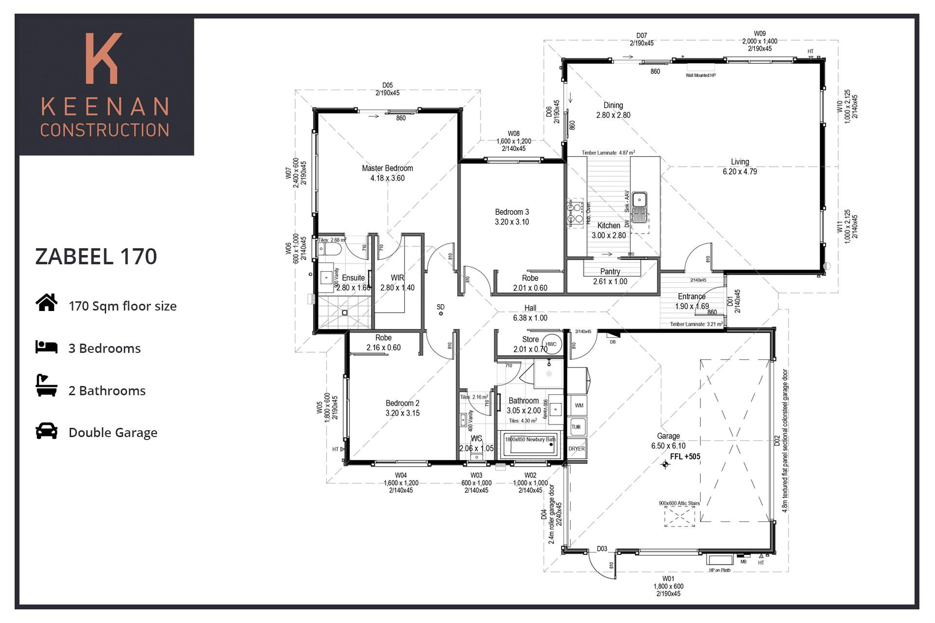Zabeel 170 Floor Plans